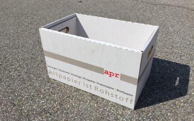 Altpapiertragekartons für Firmen